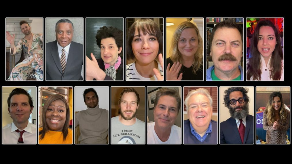 A Parks and Recreation Special cast photo