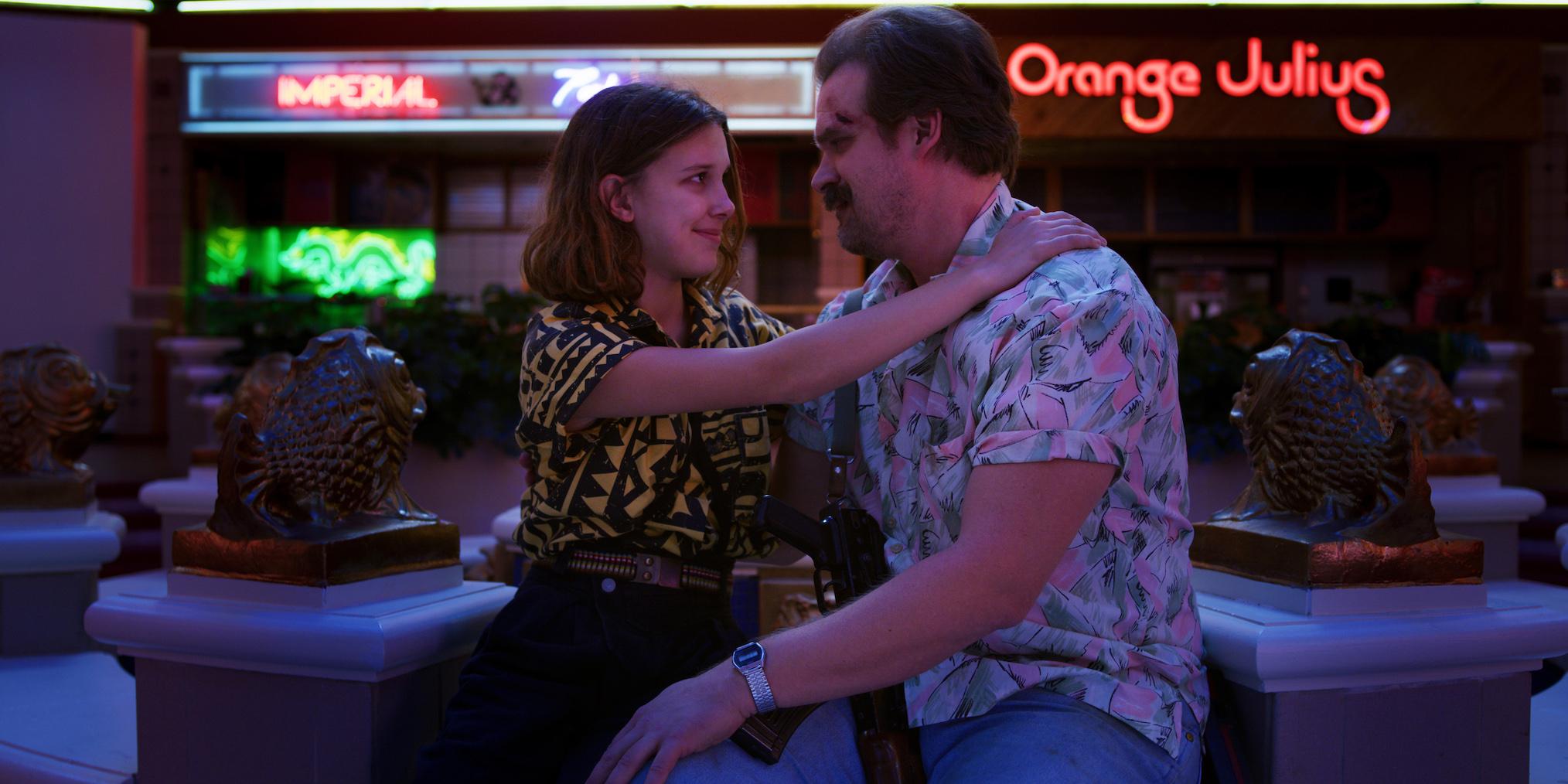 Stranger Things Millie Bobby Brown David Harbour Season 3
