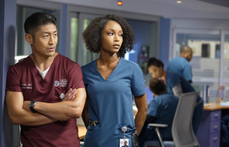 Brian Tee Yaya DaCosta Chicago Med Ethan Choi April Sexton