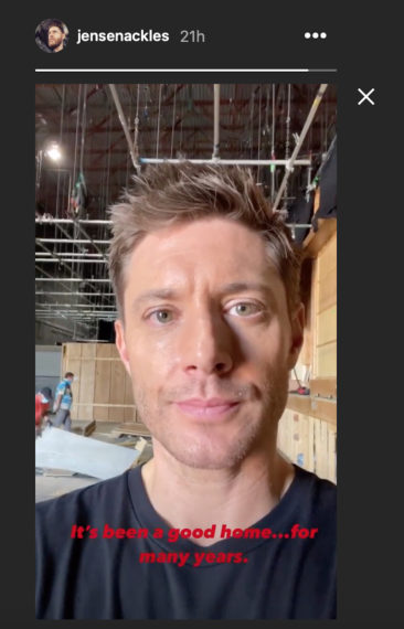 Jensen Ackles Supernatural Set Men of Letters Bunker Tear Down
