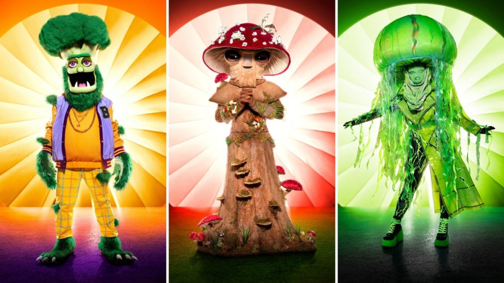 The Masked Singer Season 4 Group C Broccoli Mushroom Jellyfish