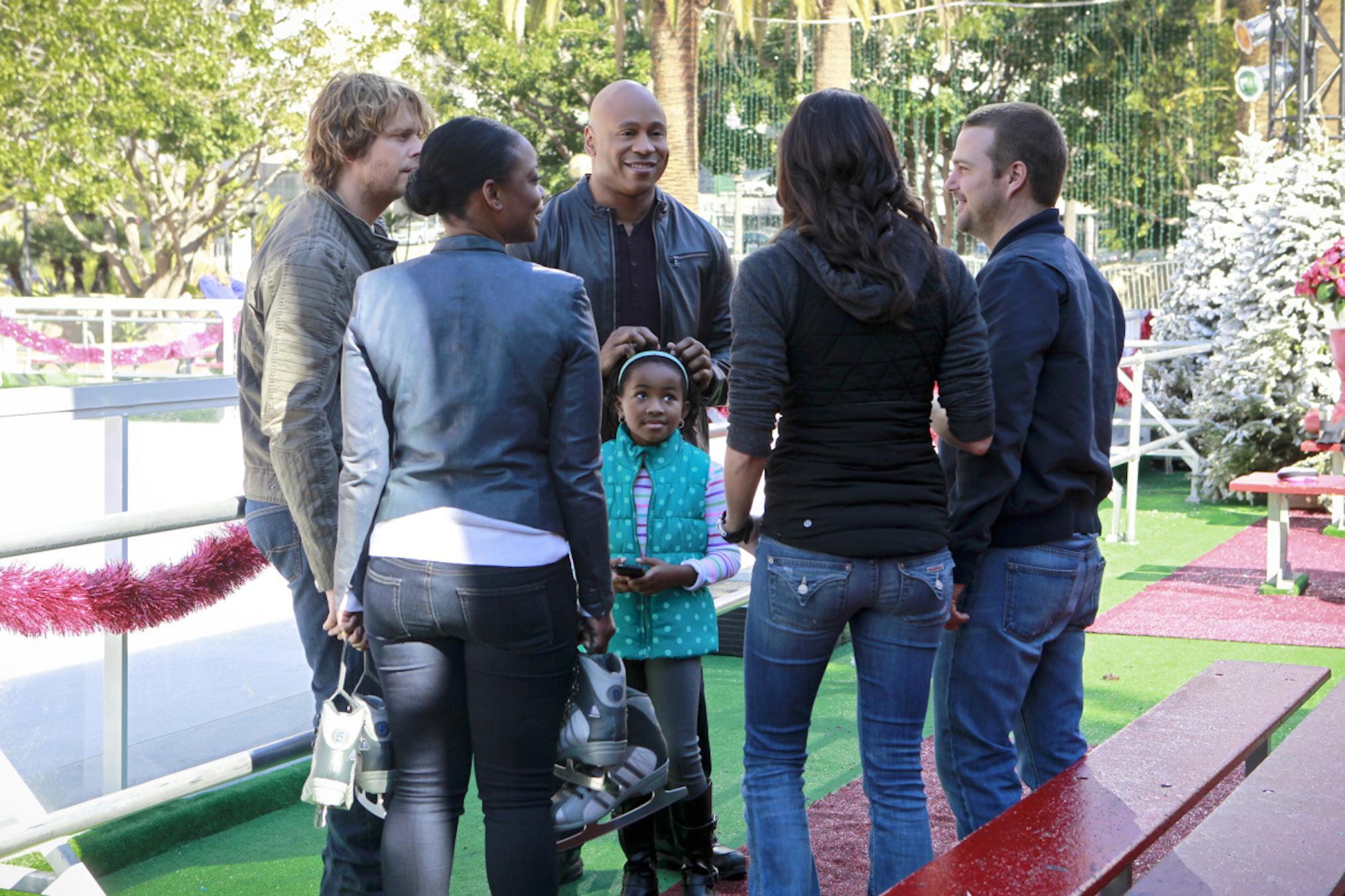 NCIS Los Angeles Humbug Season 6 Sam Family Team