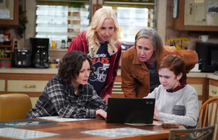 The Conners Sara Gilbert Lecy Goranson Laurie Metcalf Ames McNamara