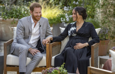 Oprah with Meghan and Harry Prince CBS