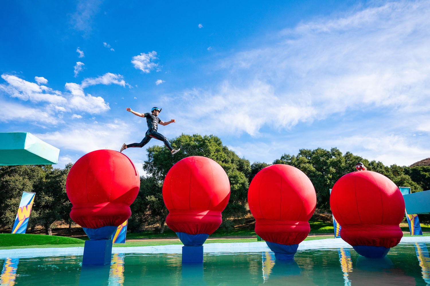 Wipeout Big Red Balls Course