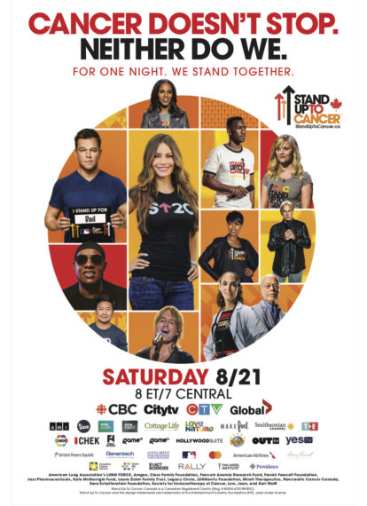 Stand Up to Cancer 2021 Poster