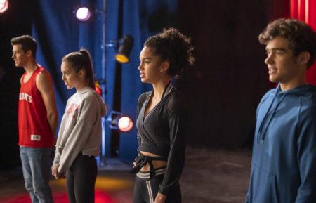 season two episode twelve- matt, olivia, sofia, joshua standing next to each other singing