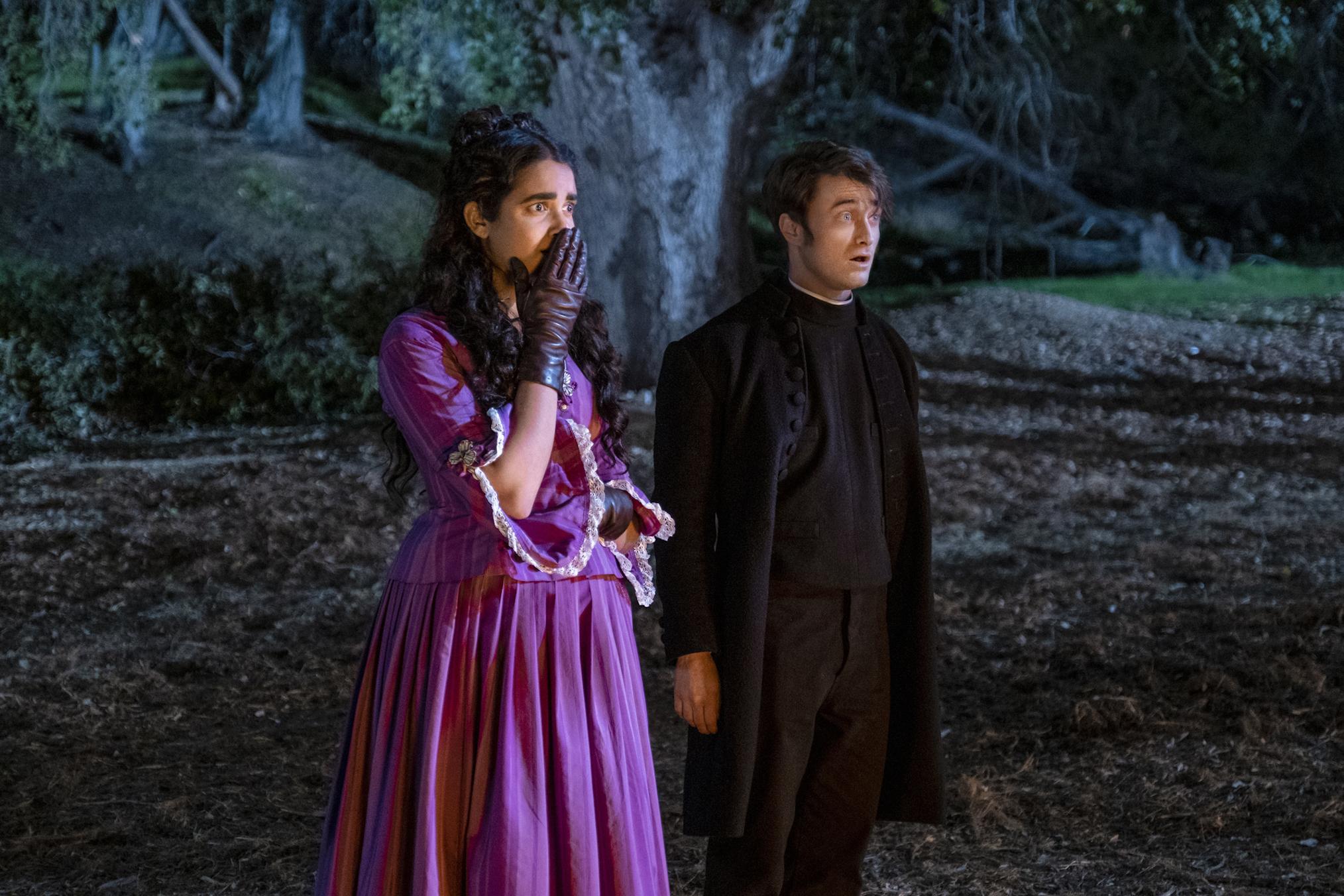 Miracle Workers Oregon Trail Season 3 Daniel Radcliffe Geraldine Viswanathan