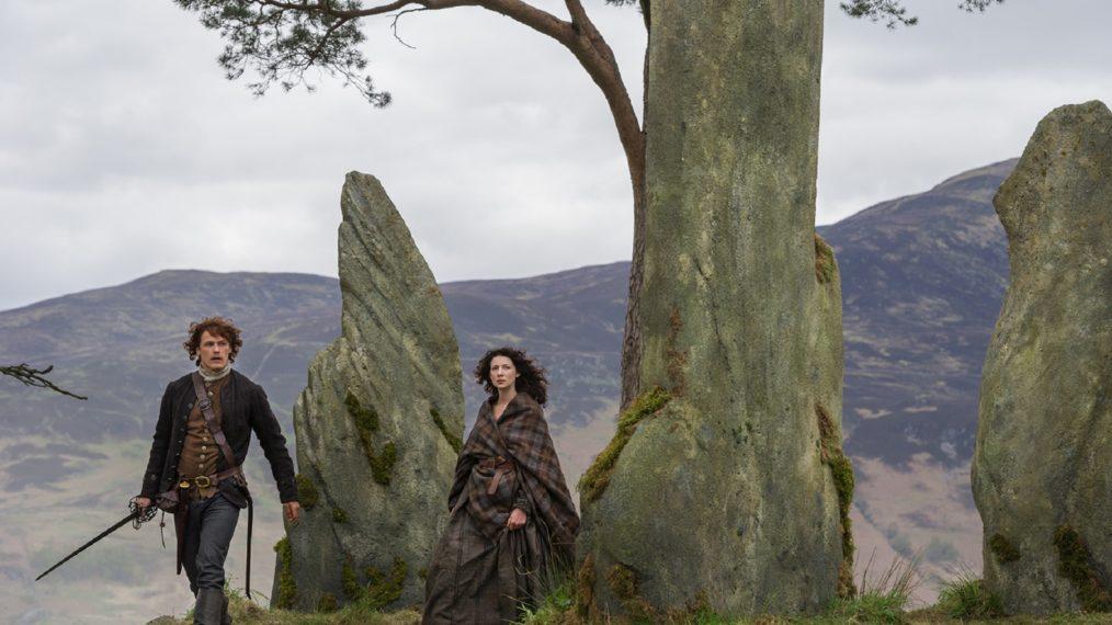 outlander season 1 sam heughan caitriona balfe