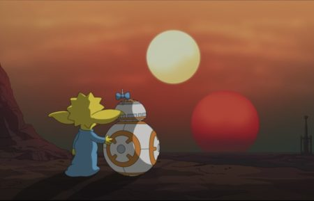The Simpsons Star Wars Maggie BB-8