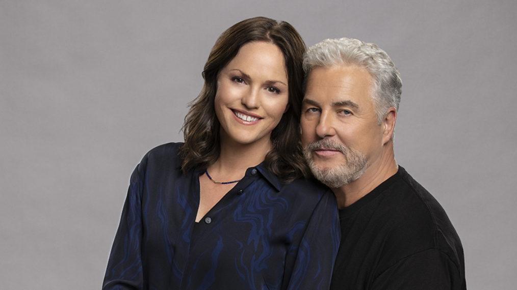 Jorja Fox and William Petersen of CSI: Vegas