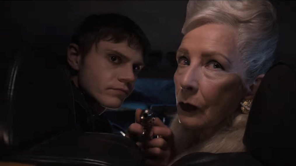 American Horror Story: Double Feature, Evan Peters and Frances Conroy
