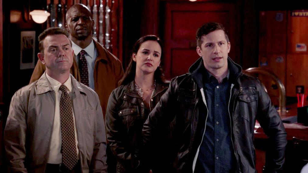 brooklyn nine nine season 8 episode 3 blue flu jake peralta andy samberg melissa fumero joe lo truglio boyle amy
