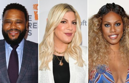 Celebrity Wheel of Fortune Anthony Anderson, Tori Spelling and Laverne Cox