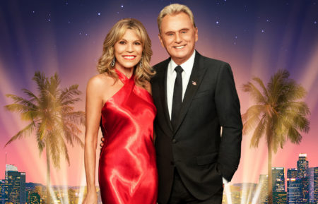 Vanna White and Pat Sajak in Celebrity Wheel of Fortune Poster