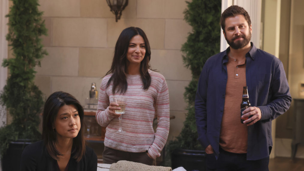 Grace Park, Floriana Lima, James Roday Rodriguez in A Million Little Things