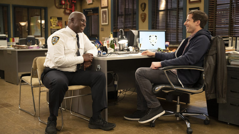 'Brooklyn Nine-Nine' Series Finale, NBC, Andre Braugher as Ray Holt, Andy Samberg as Jake Peralta
