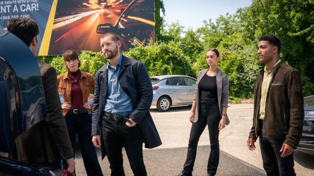 Heida Reed as Kellett, Luke Kleintank as Forrester, Vinessa Vidotto as Vo, Carter Redwood as Raines in FBI International