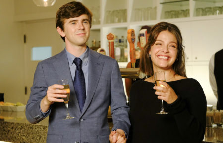 Freddie Highmore as Shaun, Paige Spara as Lea in The Good Doctor