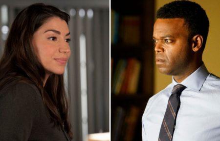 Jamie Gray Hyder as Kat, Demore Barnes as Garland in SVU