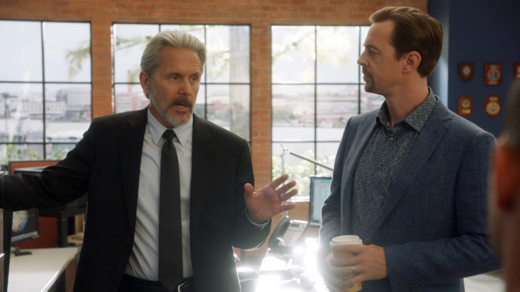 Gary Cole as Parker, Sean Murray as McGee in NCIS