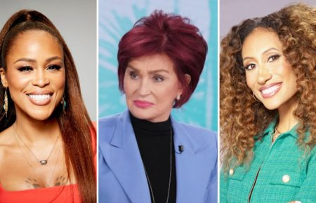 Eve, Sharon Osbourne, and Elaine Welteroth in The Talk