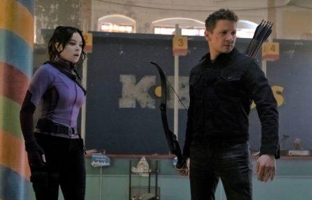 Hawkeye Season 1 Hailee Steinfeld and Jeremy Renner