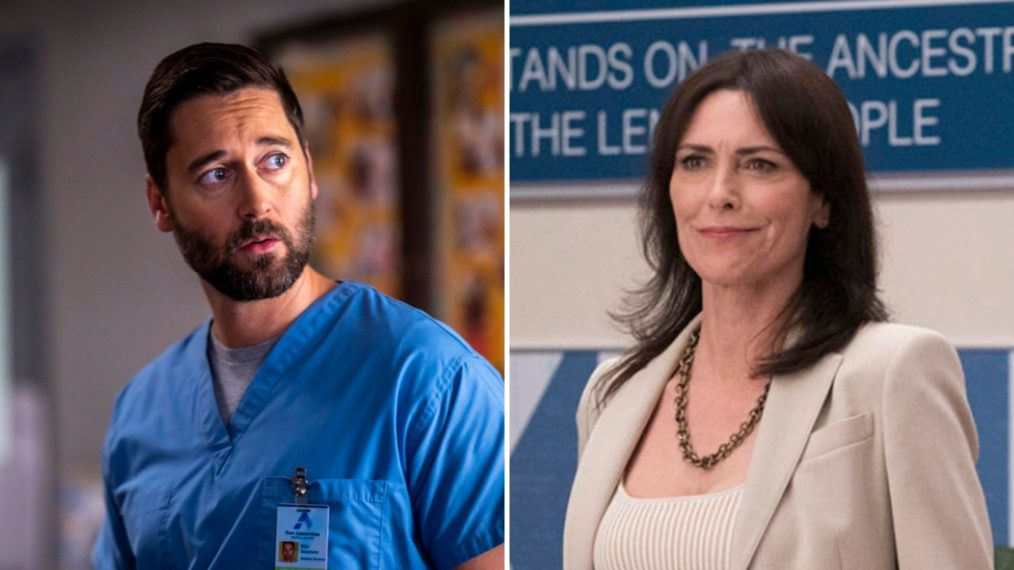 Ryan Eggold as Max, Michelle Forbes as Veronica in New Amsterdam