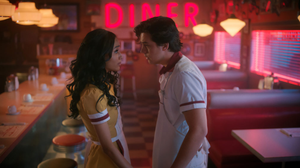 Erinn Westbrook as Tabitha, Cole Sprouse as Jughead in Riverdale