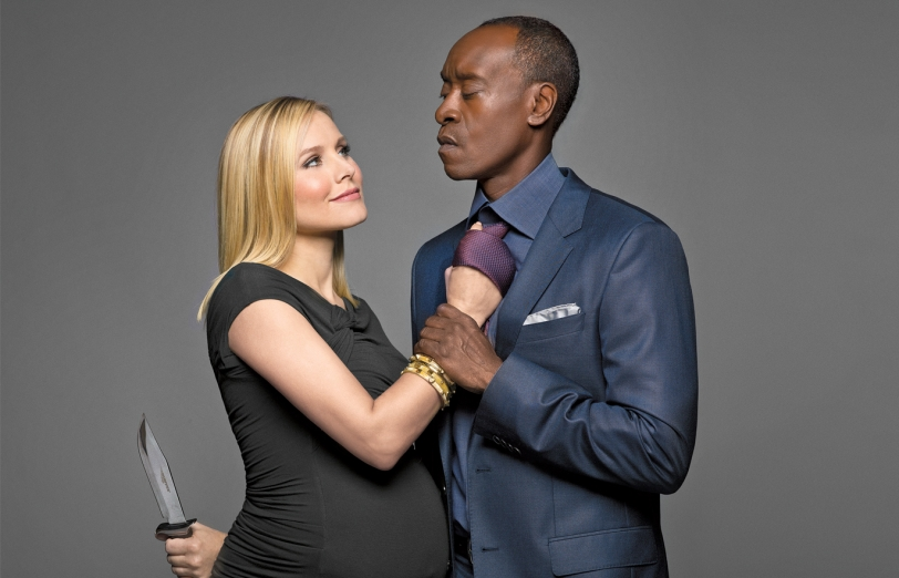 House Of Lies: Real Life Pals Don Cheadle And Kristen Bell Talk Season 4,  Ugly Sweaters, And Frozen