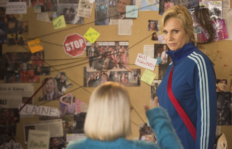 Jane Lynch as Sue Sylvester on Glee