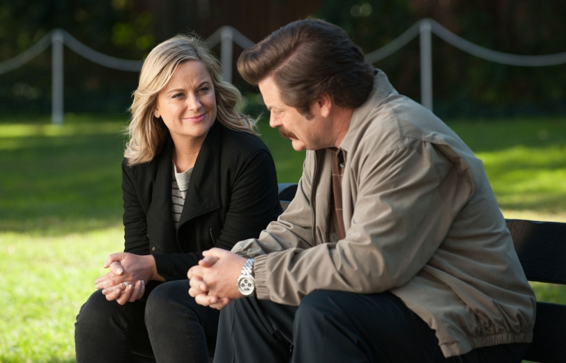 Parks and Recreation Leslie and Ron